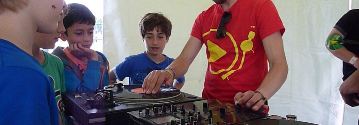 dj workshop op een festival in Utrecht
